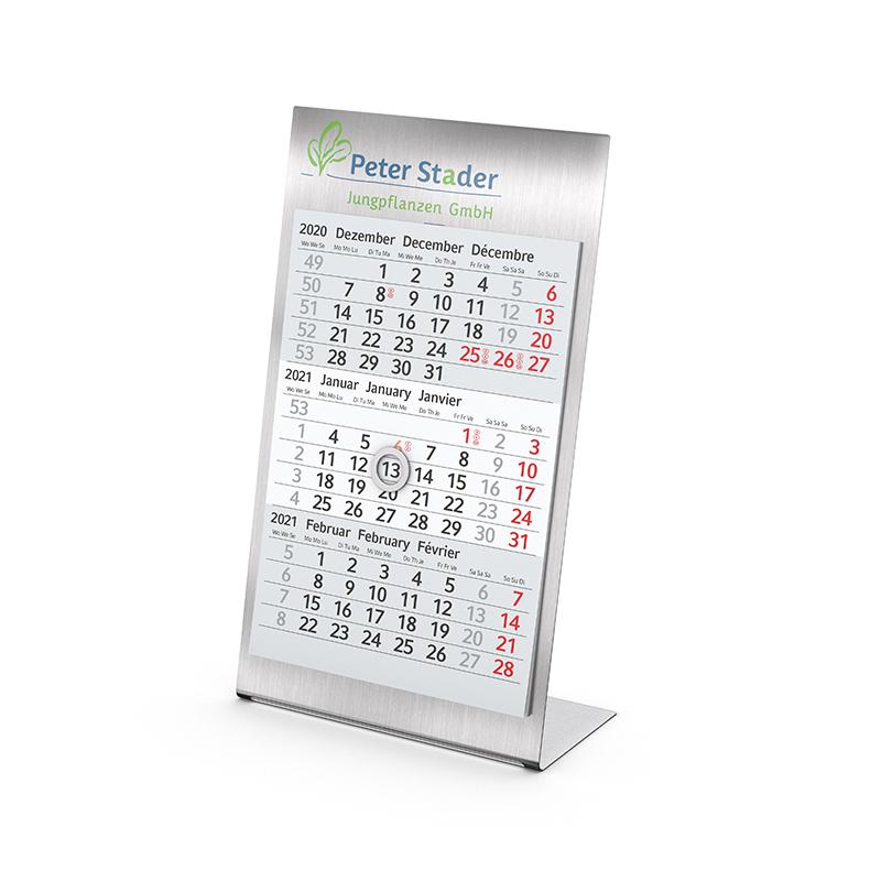 Tisch-Aufstellkalender Desktop 3 Steel bestseller