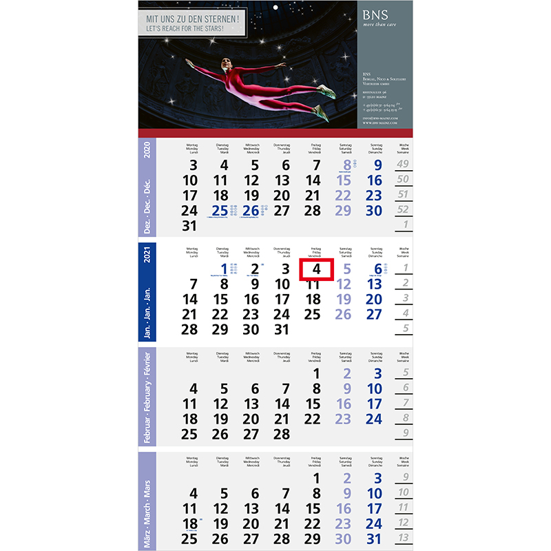 Einblatt-Monatskalender Logic 3 Post A/Logic 4 Post A bestseller