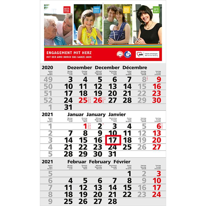 Einblatt-Monatskalender Solid 3 bestseller
