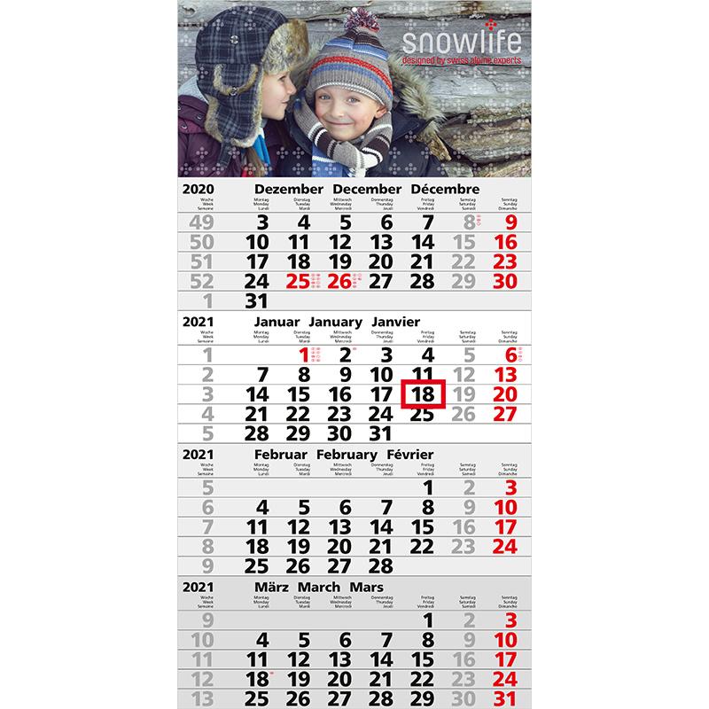 Einblatt-Monatskalender Mega 4 A/Mega 4 Post A bestseller