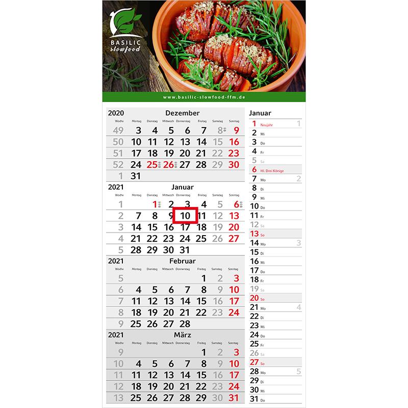 Einblatt-Monatskalender Konzept 4 Post bestseller