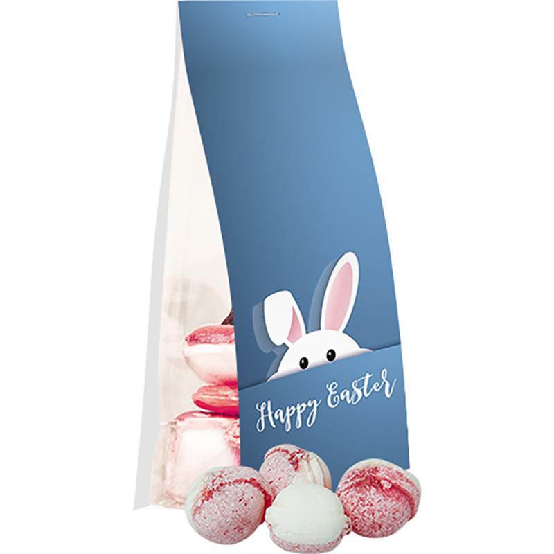 Erdbeer-Joghurt Bonbons, ca. 40g, Express Standbeutel mit Werbereiter