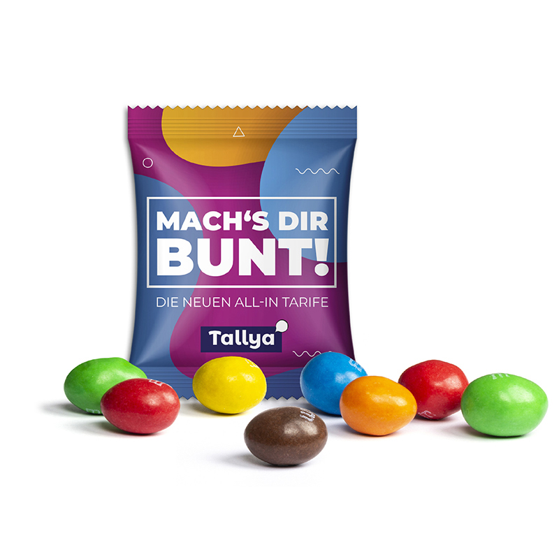 Skittles im Werbetütchen