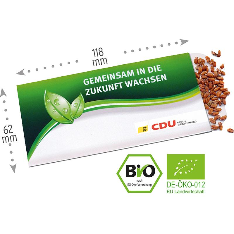 Samentütchen Bio-Kresse 62 x 118 mm