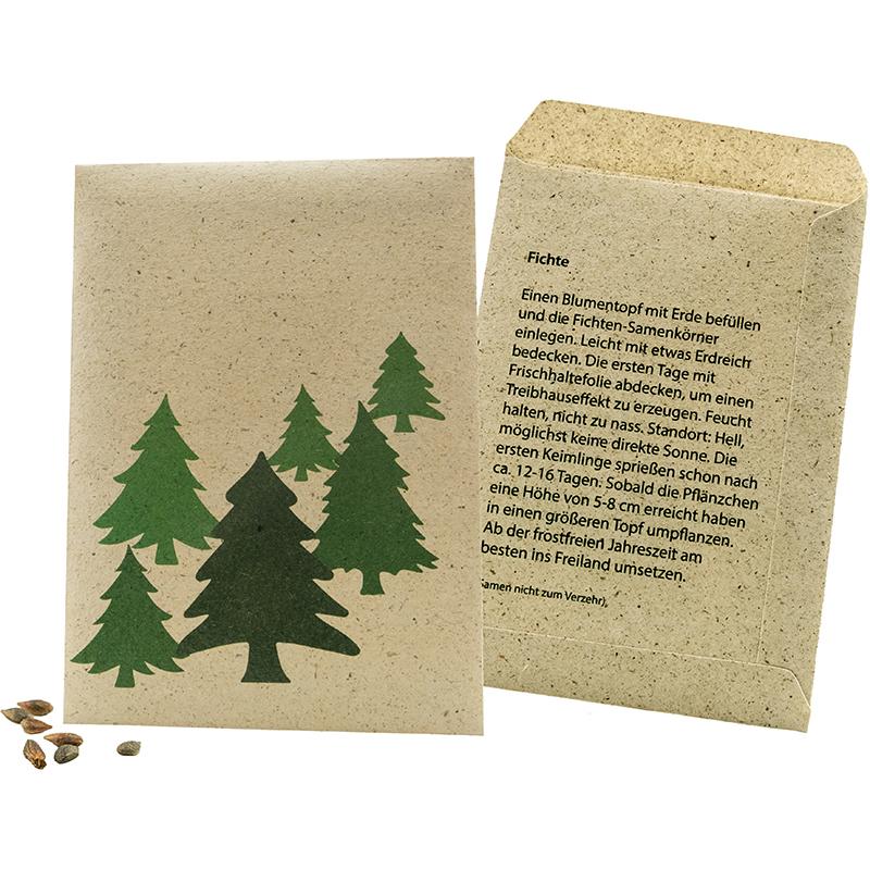 Samentütchen Graspapier Weihnachtsbaum 82 x 114 mm