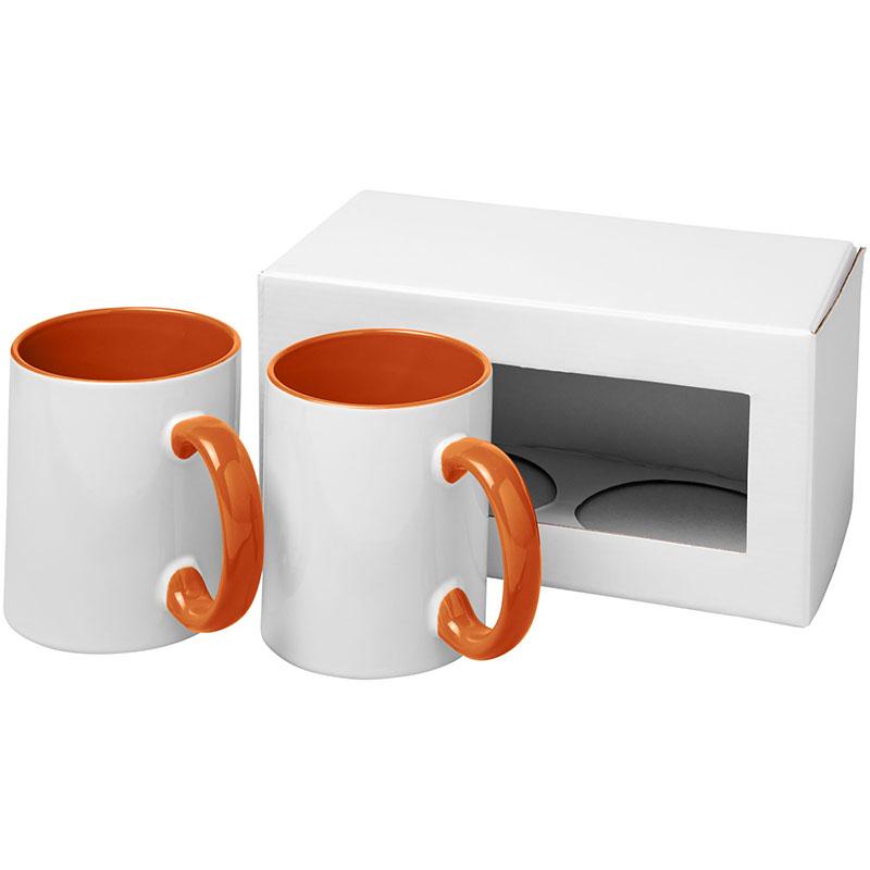 Bullet Ceramic Geschenkset mit 2 Bechern mit Sublimationsdruck