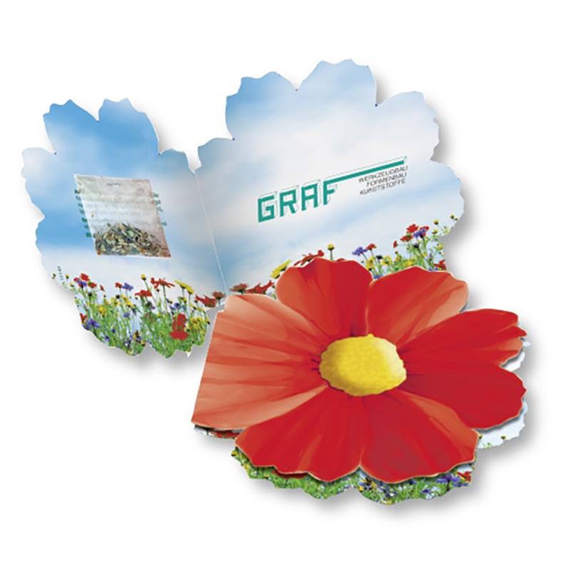Klappkärtchen Blüte