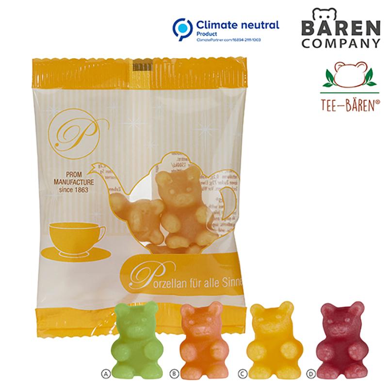 Tee-Bären im Werbetütchen