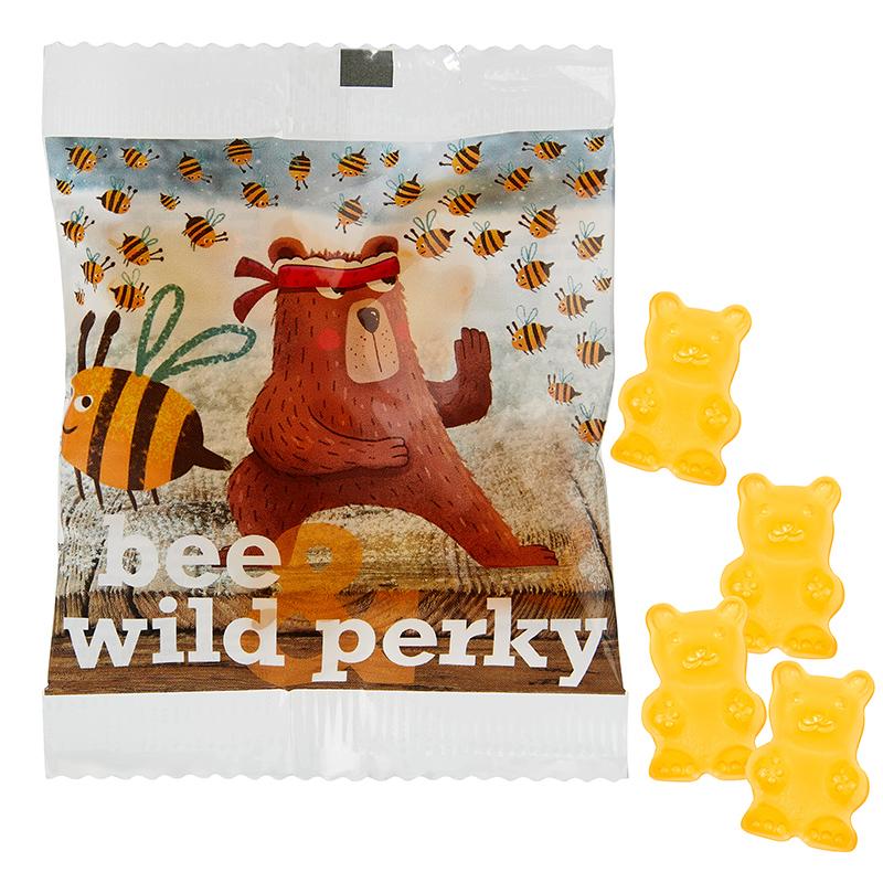 Honig-Bärchen im Werbetütchen