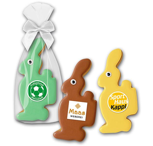 Cookie Hase mit Logo