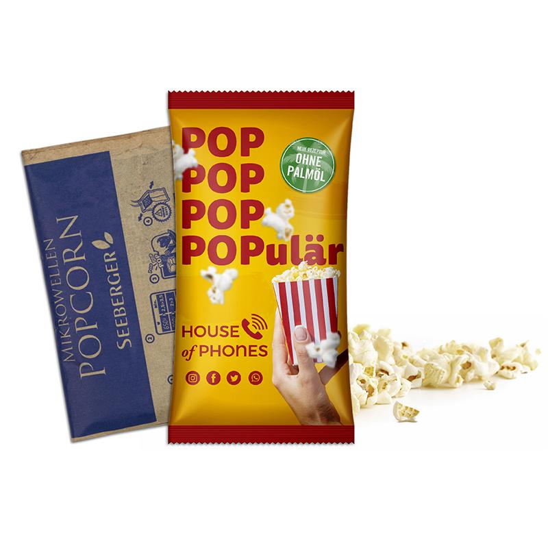 Mikrowellen-Popcorn Werbetüte