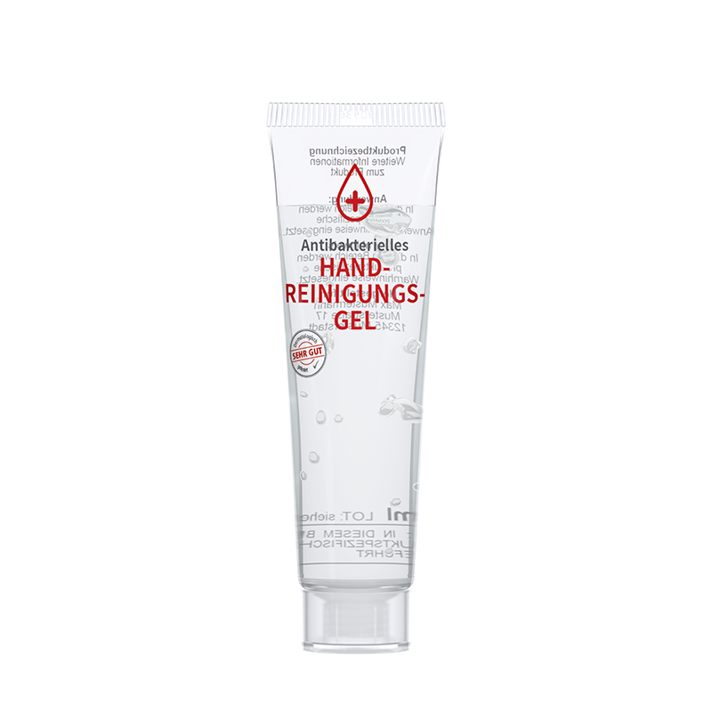 20 ml Tube. kristallklar - Handreinigungsgel antibakteriell - RealityPrint