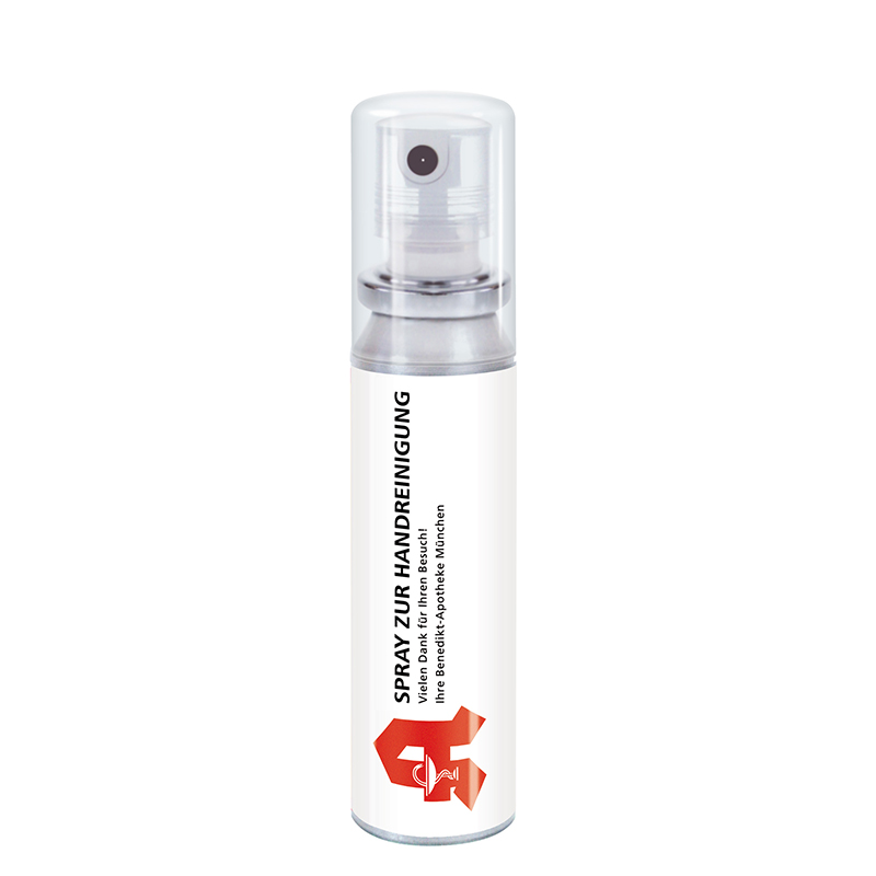 20 ml Pocket Spray  - Handreinigungsspray antibakteriell - Body Label