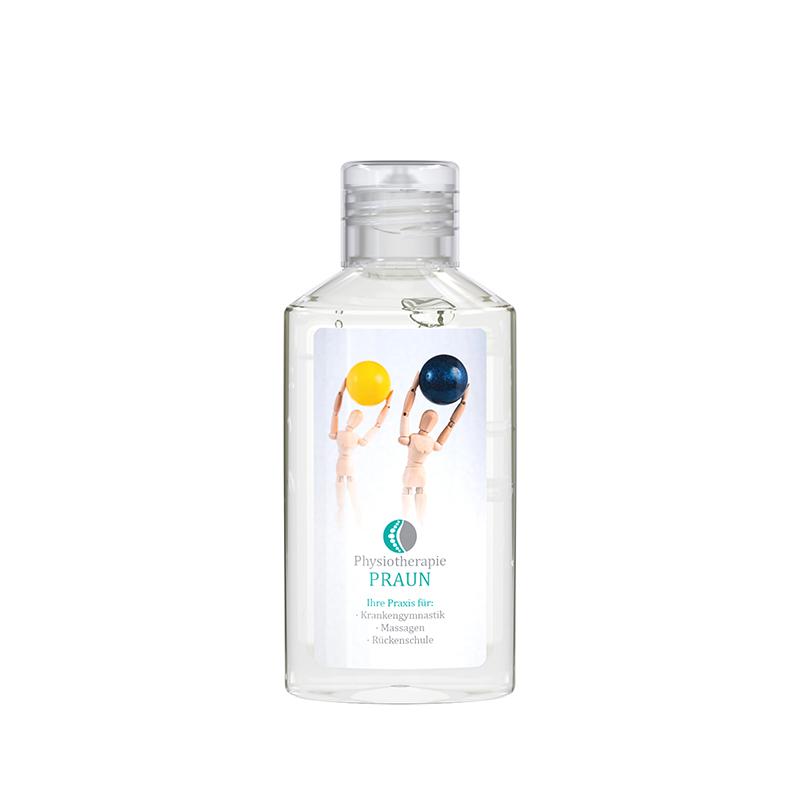 50 ml Flasche (kristallklar) - Handreinigungsgel antibakteriell – Body Label