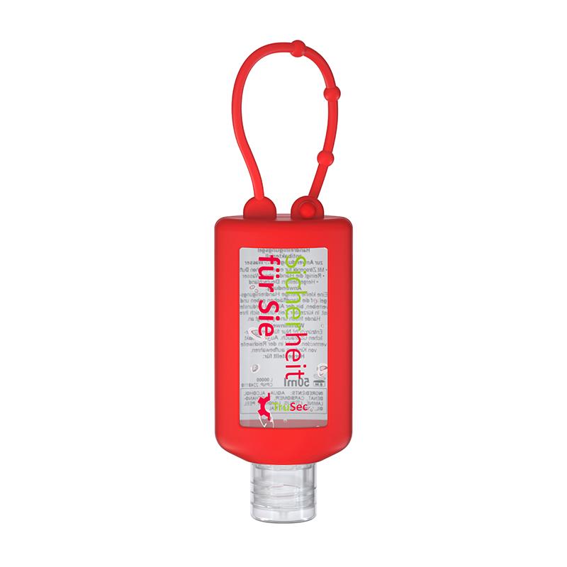 50 ml Bumper rot - Handreinigungsgel antibakteriell - No Label Look