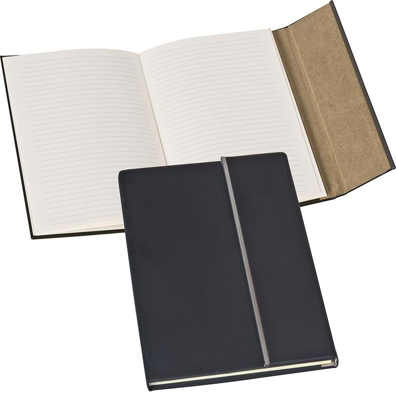 A5 Notizbuch mit Metallstreifen