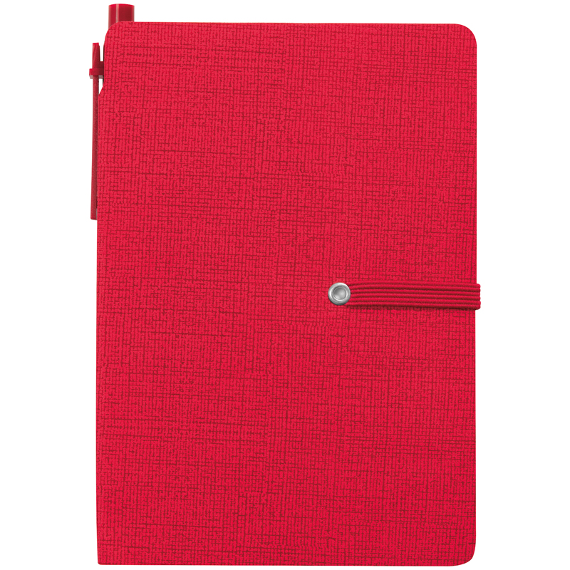 Notizbuch mit liniertem Block und diversen Haftmarkern
