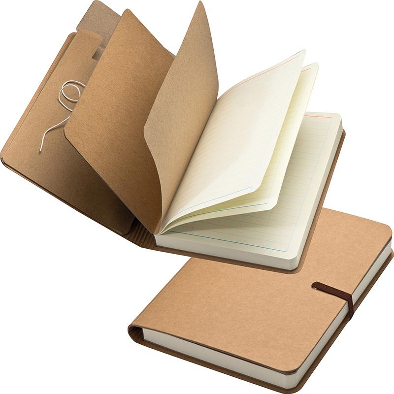 Notizbuch mitGummiband und 240 linierten Seiten