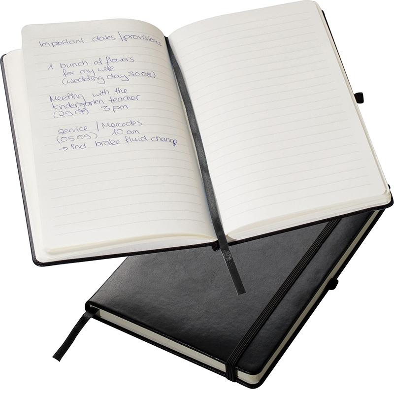 A5 Notizbuch mit Gummiband-Verschluss