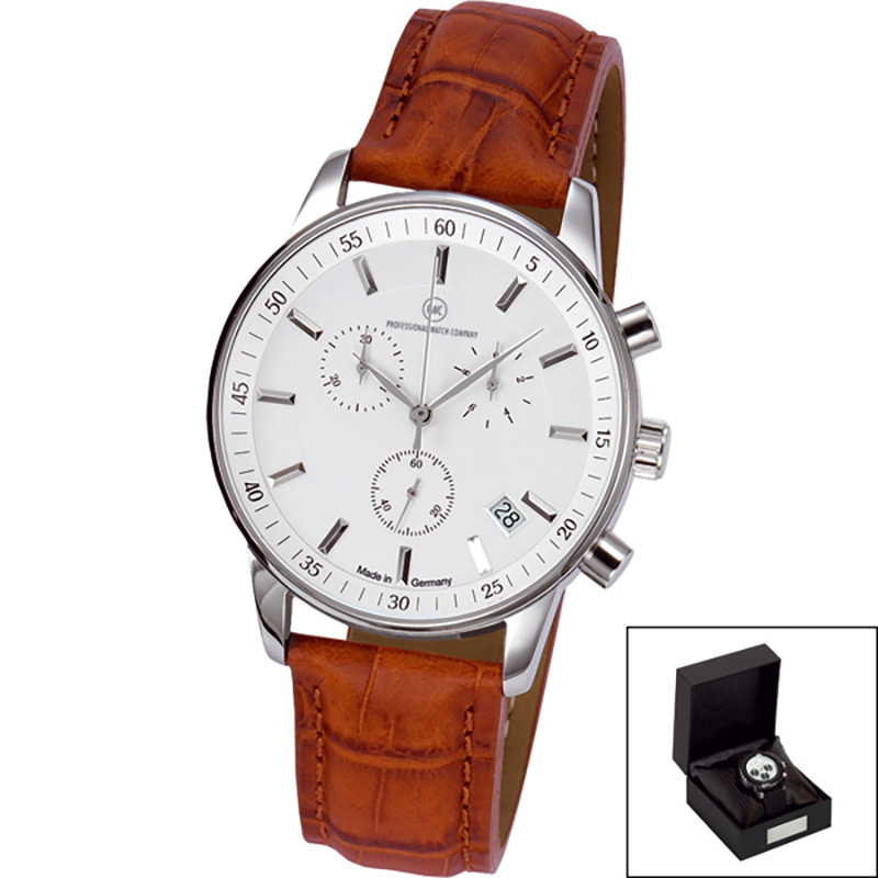 Edelstahl-Chronograph Made in Germany GM 211