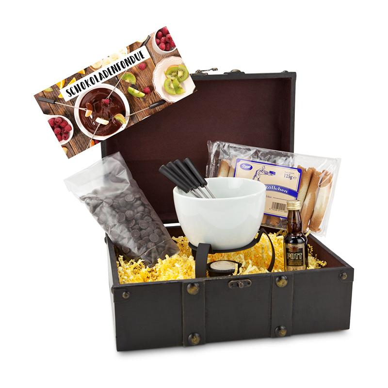 Geschenkset / Präsenteset: Schokoladenfondue