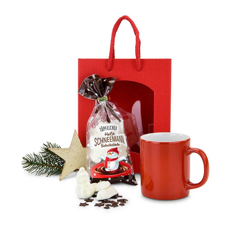 Geschenkset / Präsenteset: Heiße Schneemann Schokolade
