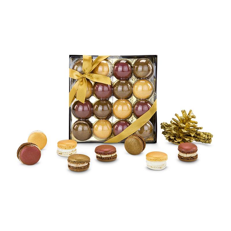 Geschenkset / Präsenteset: Goldene Macarons
