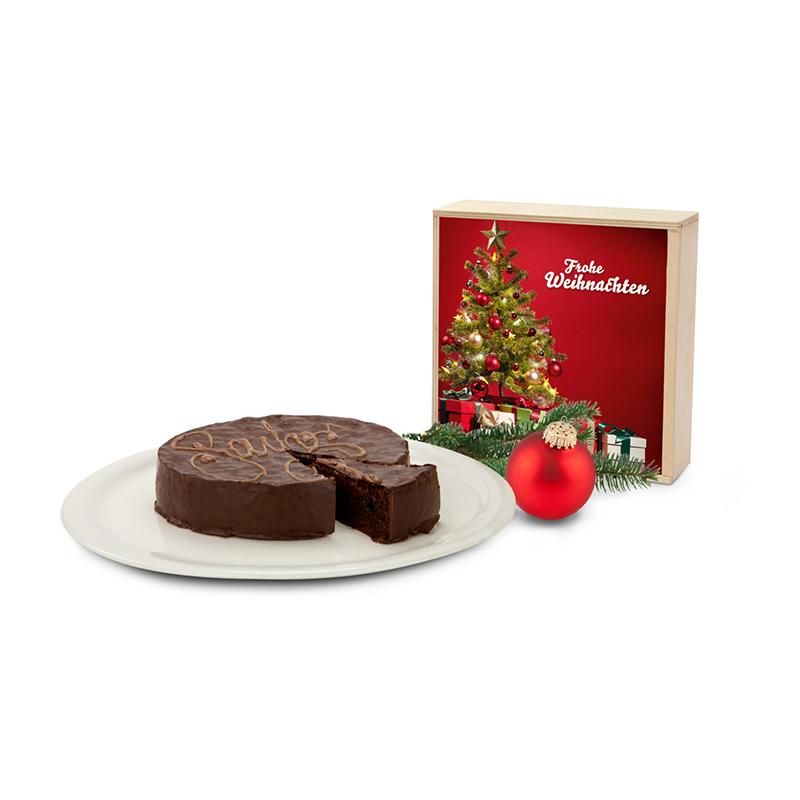 Geschenkset / Präsenteset: Sachertorte Weihnachten
