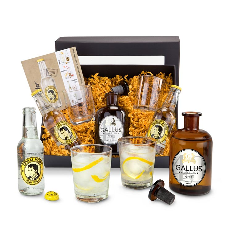 Geschenkset / Präsenteset: Gin Tonic Set 'Gallus 43'