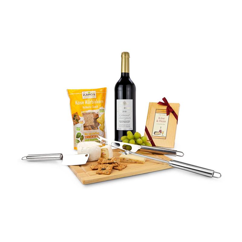 Geschenkset / Präsenteset: Das Käsebrett