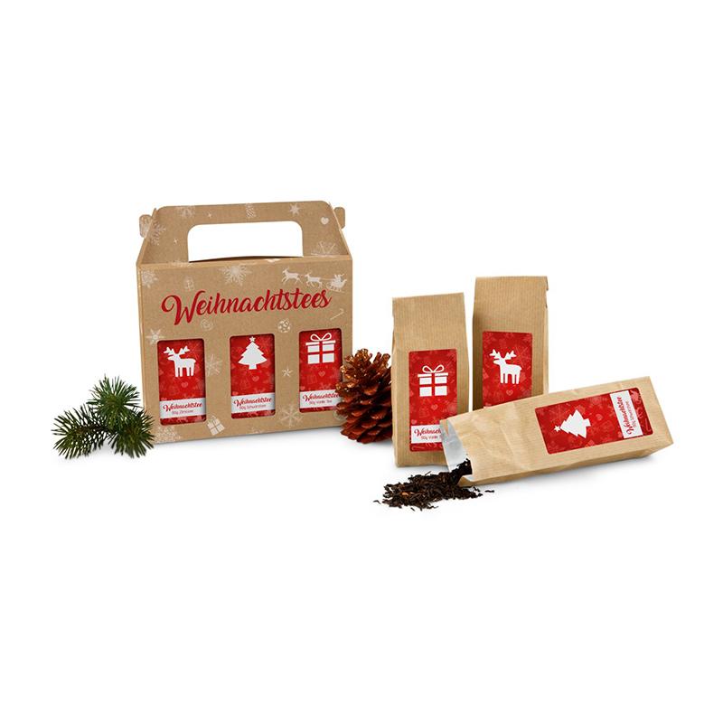 Geschenkartikel / Präsentartikel: Weihnachtliche Teegrüße