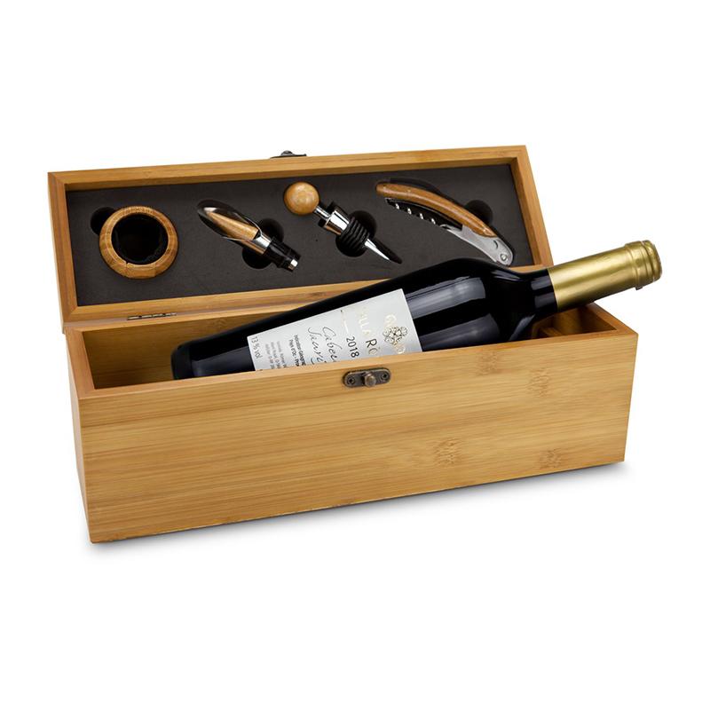Geschenkset / Präsenteset: Wein in Bambuskiste