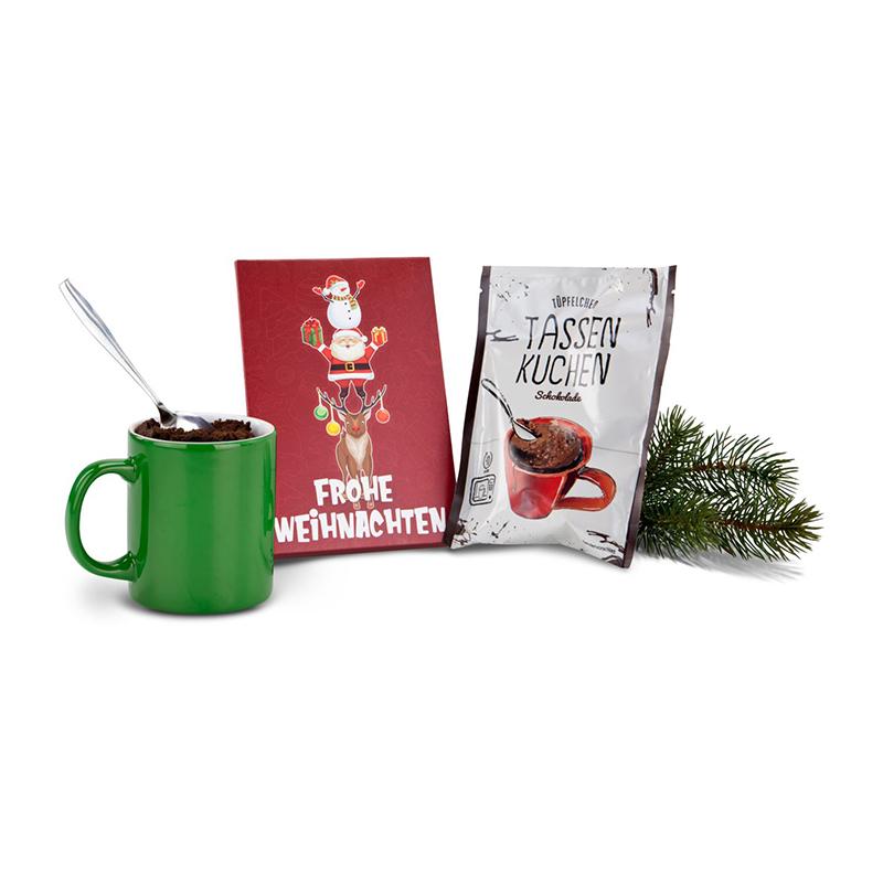 Geschenkset / Präsenteset: Frohe Weihnachten Tassenkuchen