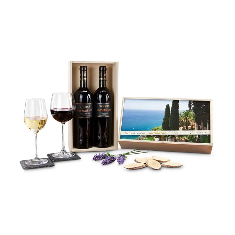 Geschenkset / Präsenteset: Wein-Partnerschaft