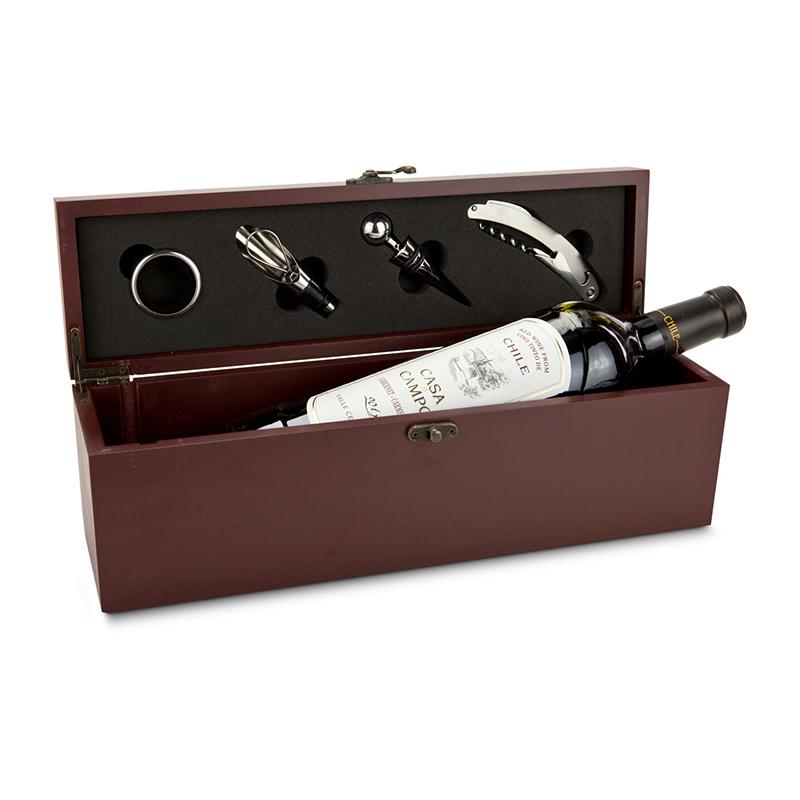 Geschenkset / Präsenteset: Weinaccessoire-Kiste