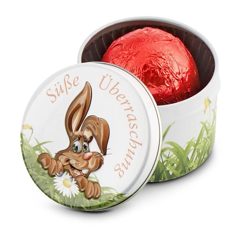 Geschenkartikel / Präsentartikel: Süße Überraschung - 1er Pralinendose