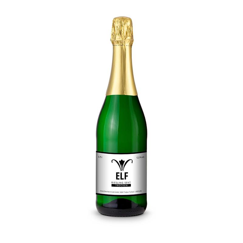Sekt - Riesling - Flasche grün, 0,75 l