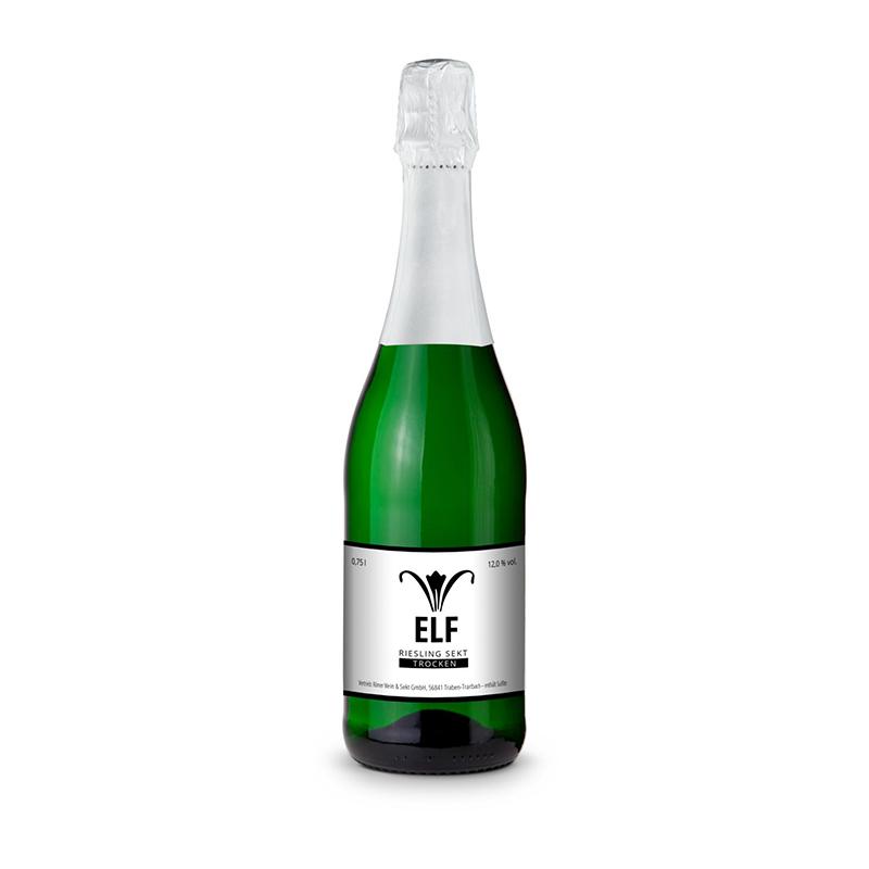 Sekt - Riesling - Flasche grün - Kapselfarbe Weiß, 0,75 l