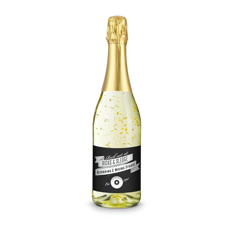 Goldflockentraum - Flasche klar, 0,75 l