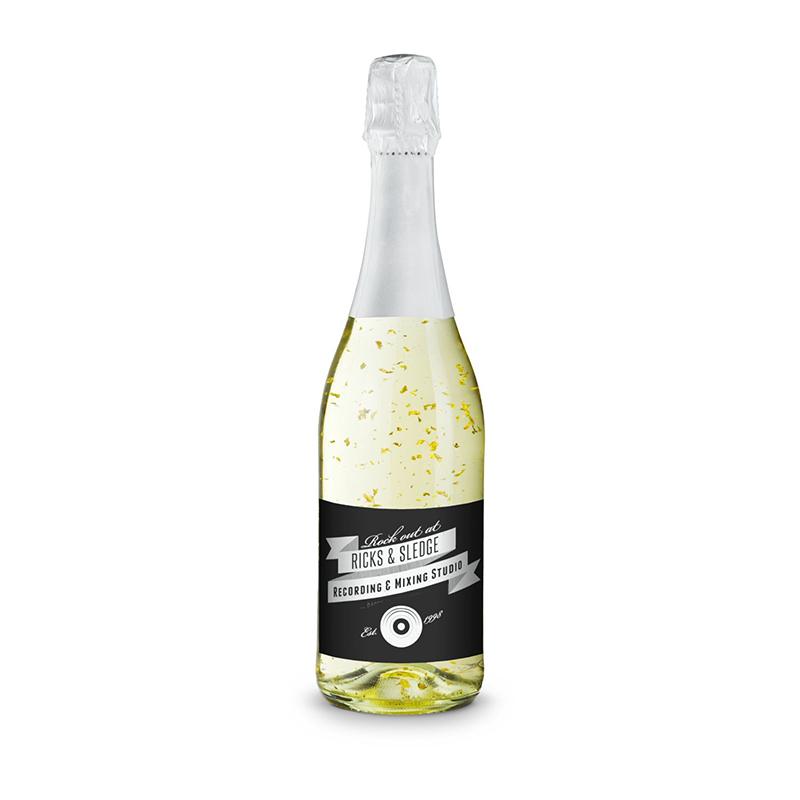 Goldflockentraum - Flasche klar - Kapsel weiß, 0,75 l
