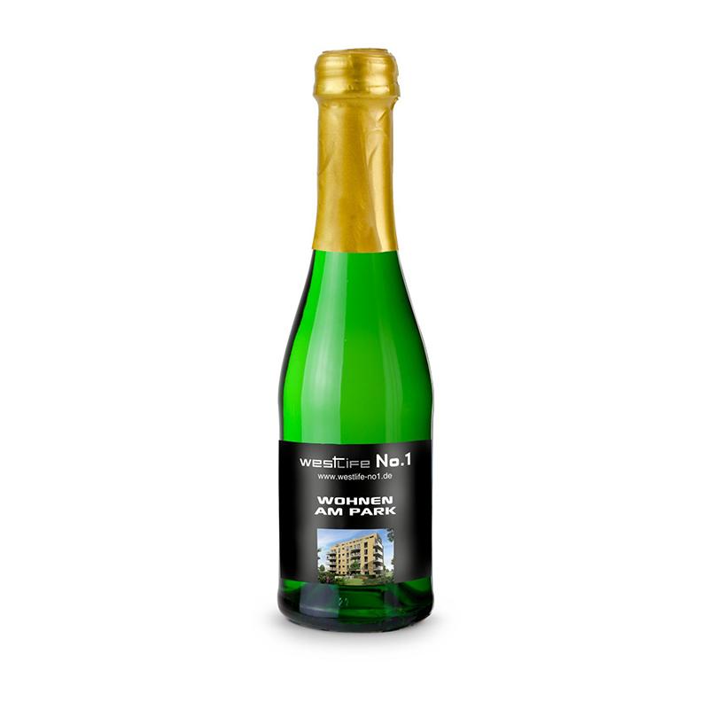 Sekt Cuvée Piccolo - Flasche grün, 0,2 l