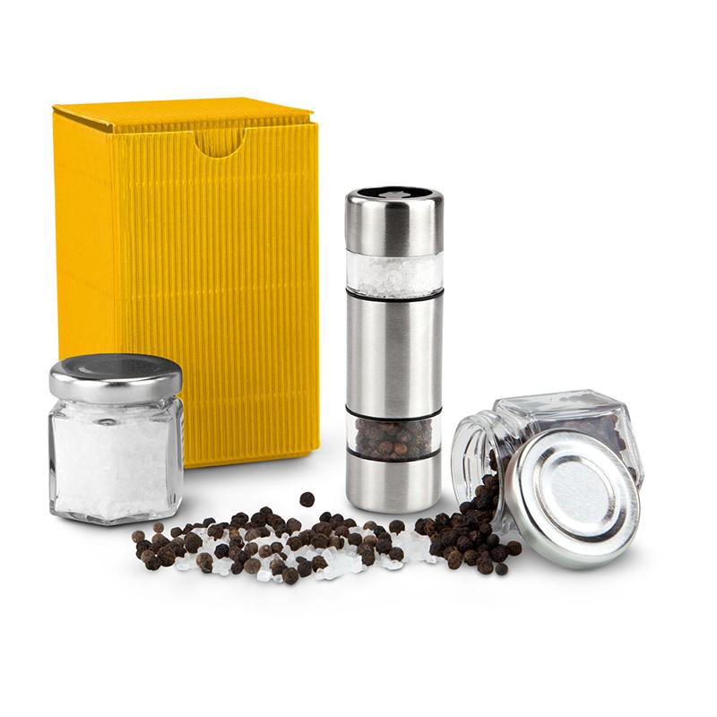 Geschenkset / Präsenteset: Salz & Pfeffer im Miniformat Gelb