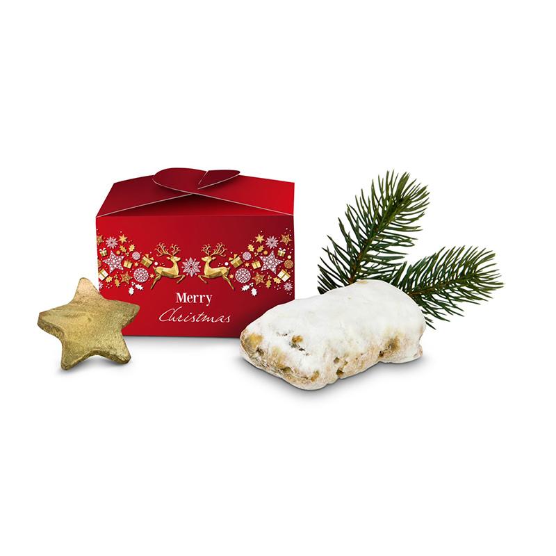 Geschenkartikel / Präsentartikel: Mini Stollen Merry Christmas