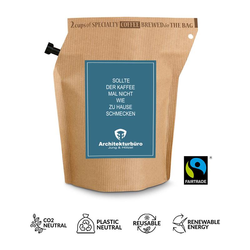Werbe-Kaffee Honduras, wiederverwendbarer Brühbeutel