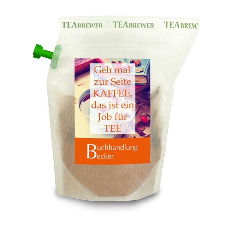 Werbe-Tee Earl Grey , wiederverwendbarer Brühbeutel