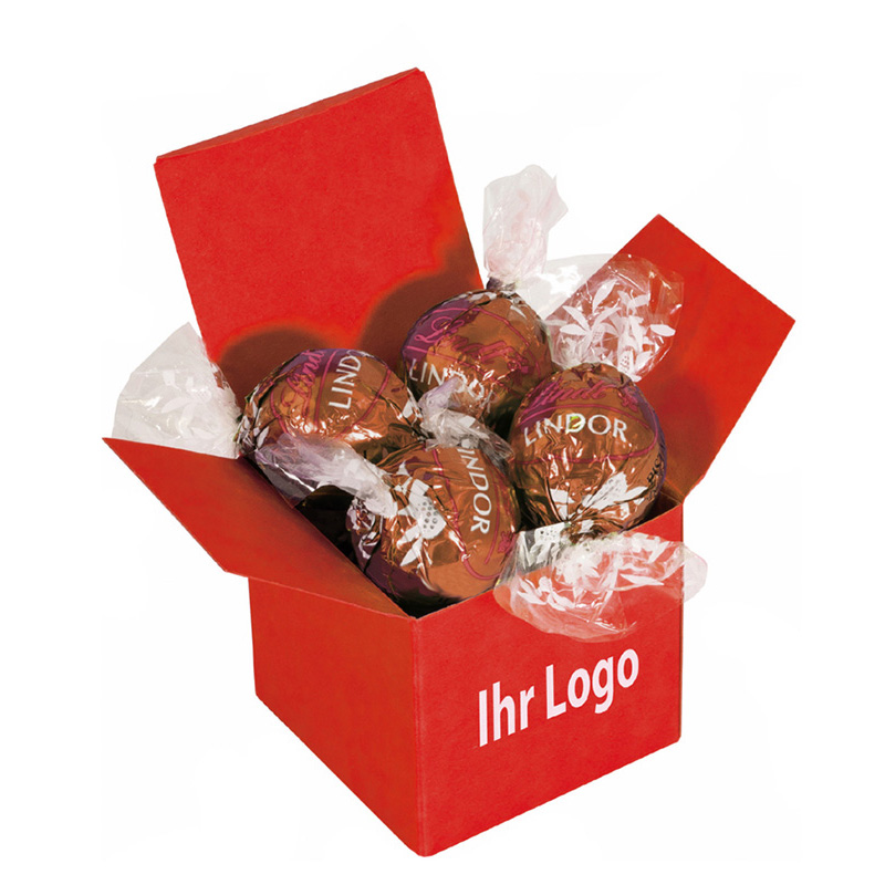 Color Lindor Box Rot Haselnuss