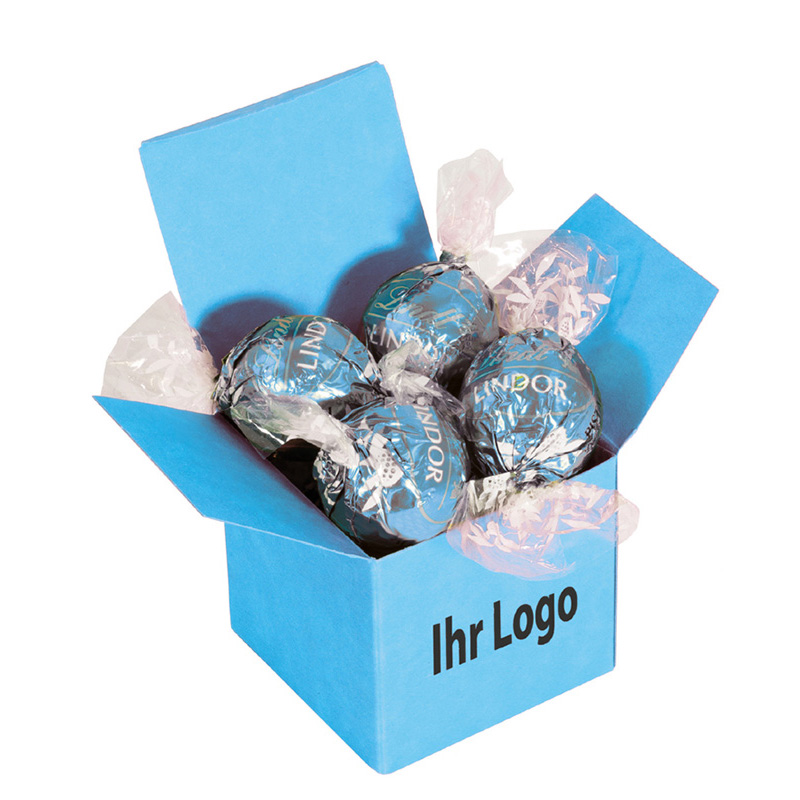 Color Lindor Box Hellblau Stracciatella