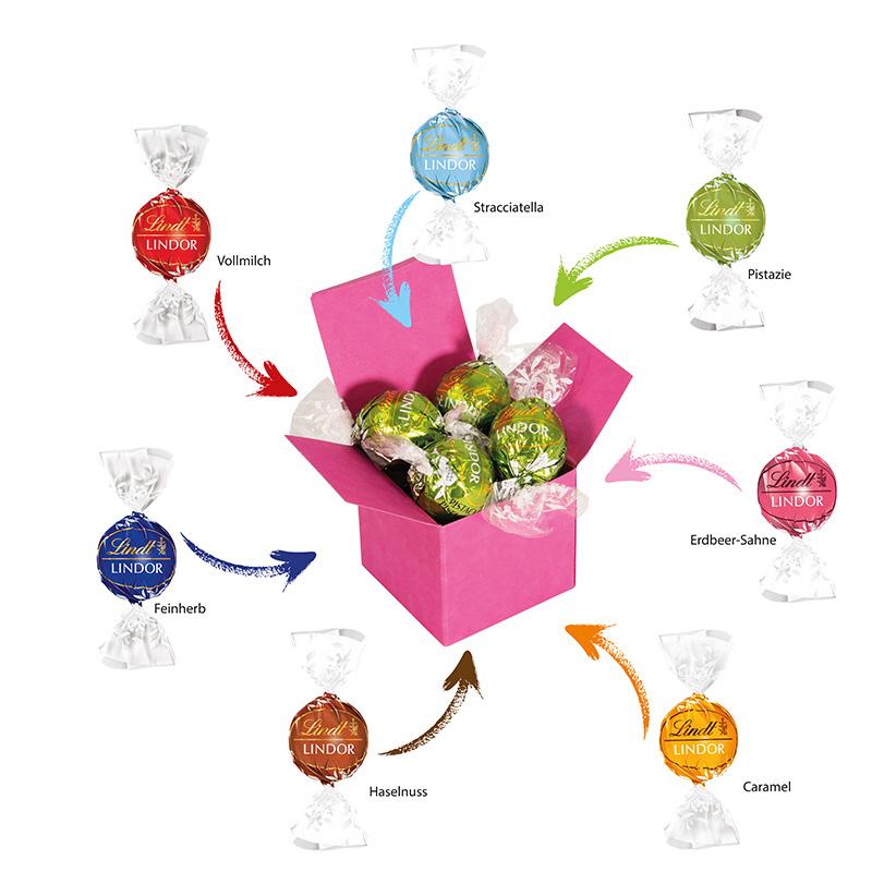 Color Lindor Box Pink Erdbeer