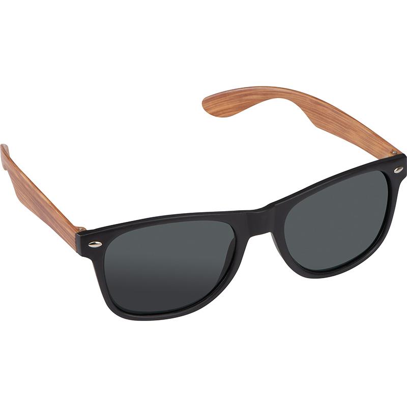 Sonnenbrille mit Bügeln in Bambusoptik, UV 400 Schutz