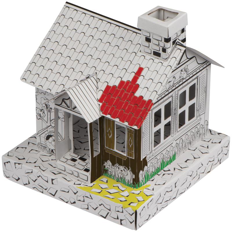 Haus aus Pappe zum Ausmalen